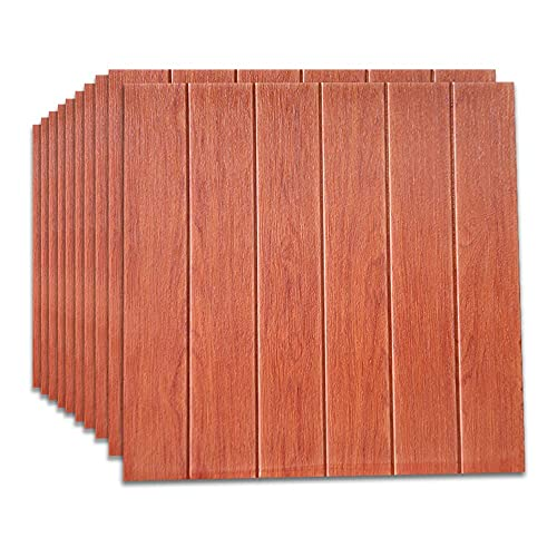 BROOE Paneles de Pared de Contacto de Grano de Madera, Autoadhesivo, extraíble, Panel de Madera con Textura, Adhesivo Decorativo para Pared, Dormitorio, 70 × 70Cm, Tipo 7
