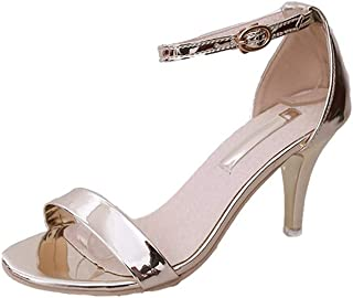 0133128d057b5a Serzul Ladies Summer Comfort Open Toe Ankle Strap Chunky Block High Heel  Sexy Dress Formal Party