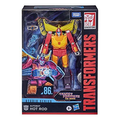 Transformers Juguetes Studio Series 86 - Figura de Autobot Hot Rod Clase Viajero 1986 película - 16,5 cm - Edad: 8+