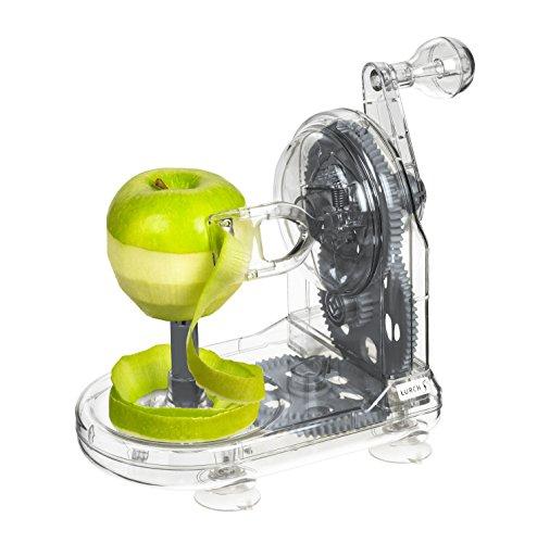 Lurch 10239 Apfelschäler mit Handkurbel aus Kunststoff