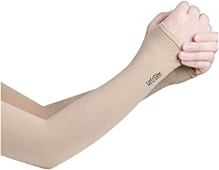 ACVIP Women's Fingerless Compressing Arm Length Active Gloves Sleeves