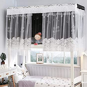 Dorm Bunk Bed Curtain Printed Blackout Curtain Single Bed Tent Curtain Student Cloth Shading Bed Canopy Spread Curtain Mosquito Net Student Sleep Privacy Protection Net Home Bunk Bed Screen