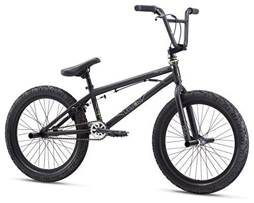 Mongoose Legion L20 Freestyle BMX Bike Line for Beginner-Level to Advanced Riders, Steel Frame, 20-Inch Wheels, Black/Green