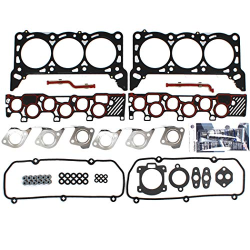 CNS EH10160 Multi-Layered Steel Head Gasket Set Compatible with 97-98 Ford 4.2L 256CID E-150 E-250 Van F-150 Truck OHV V6 12-Valve Engine Vin Code 2