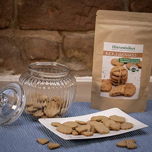 Histaminikus Keksgenuss, Bio Keksbackmischung, histaminfreie Backmischung ohne Zusatzstoffe (300g), glutenfrei und geeignet bei Histaminintoleranz sowie für Ernährungsbewusste