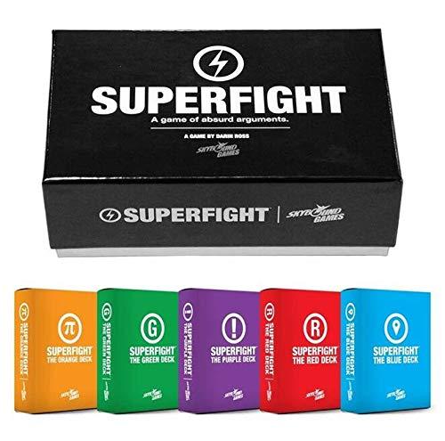 Super Fight Main Starter Deck Kartenspiel mit blau grün lila rot orange Erweiterungsdecks für Familie und Freunde Party Unterhaltung