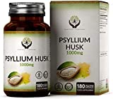 EN Cascara de Psyllium 1000mg por Porción 180 Capsulas Veganas | Fibra Natural de Plantago Ovata del Psyllium en Polvo | Psyllium Sin Gluten, Rellenos, OGM o Lácteos | Perfecto para la Harina de Keto