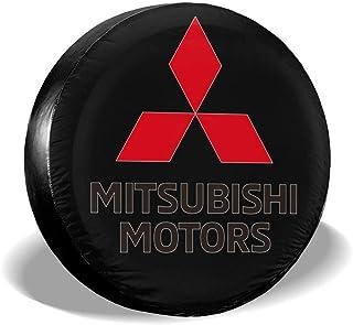 NAnihidf HJKAA Ersatzreifenabdeckung Mitsubishi Motors Logo Radkappen Universal Reifenschutz