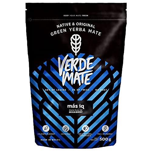 Verde Mate Green Mas IQ 500g Yerba Mate Té Con Frutas y Hierbas Yerba Mate de Brasil Sin gluten Sin humo (Comestibles)