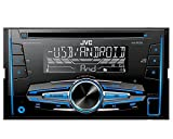 Auto Radio CD Receiver JVC con USB CD AUX uvm per Audi A3 Sport Back (8P/8 PA) 2006 – 2012 vollaktiv/Bose incl Incasso Set Nero