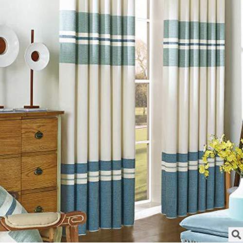 Gordijnen MYKK Gestreepte studeerkamer Gordijngordijn voor woonkamer Frisse raamafscherming 150W 270H gestreepte cloth2