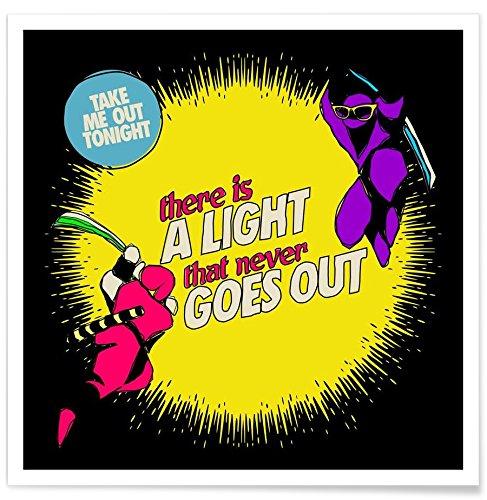 Juniqe® Affiche 20x20cm Pop Art - Design There is a Light (Format : Carré) - Poster, Tirages d'art & Tableaux par des Artistes indépendants créé par Butcher Billy