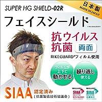 99.99%抗菌・抗ウイルス フェイスシールド(平岡工業)SUPER HG SHIELD-02R