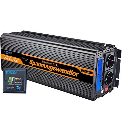 Convertidor 12v 220v inversor ONDA PURA 2500w y pico de 5000w transformador 12v 220v onda...