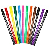 12 PCS Bolígrafos Comestibles para Decoración de Pasteles, Marcador de Coloración de Doble Punta,...