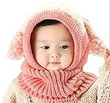 (京都おかげさまで) 選べるカラー 5色 ウサギちゃん ニット帽子 赤ちゃん ニット帽 ベビー & キッズ (ピンク)