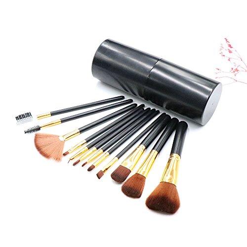 Pinceaux de Maquillages Set WINJIN 12 PCS Pinceaux de maquillage Premium Brosse de Cosmétique Brosses de maquillage Cosmétique Outils avec portable Maquillage Boîte de Rangement pour lèvres,fondation
