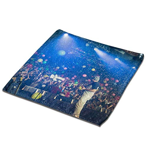 Yuanmeiju Toalla Cuadrada Disco Biscuits Microfiber Square Towel, Soft and Skin Friendly Sports Towel, Face Towel, Hand Towel 13 X 13 Inches