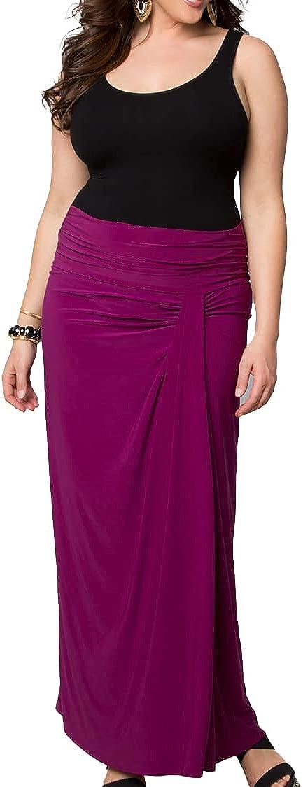Kiyonna Women's Plus Size Jetsetter Maxi Skirt