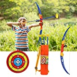 Sports Toy, Safe Archery Toy, Children 3 Arrows Kids Bow Arrow Toy Set