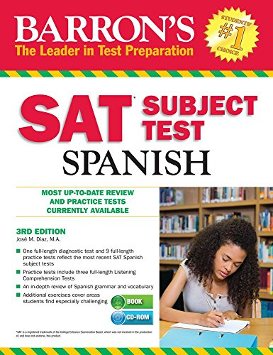 Barrons Sat Subject Test Spanish 4th Edition With Mp3 Cd