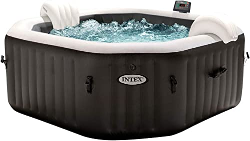 Intex - 79IN X79IN X28IN purespa Jet and Bubble Deluxe Set (28458)
