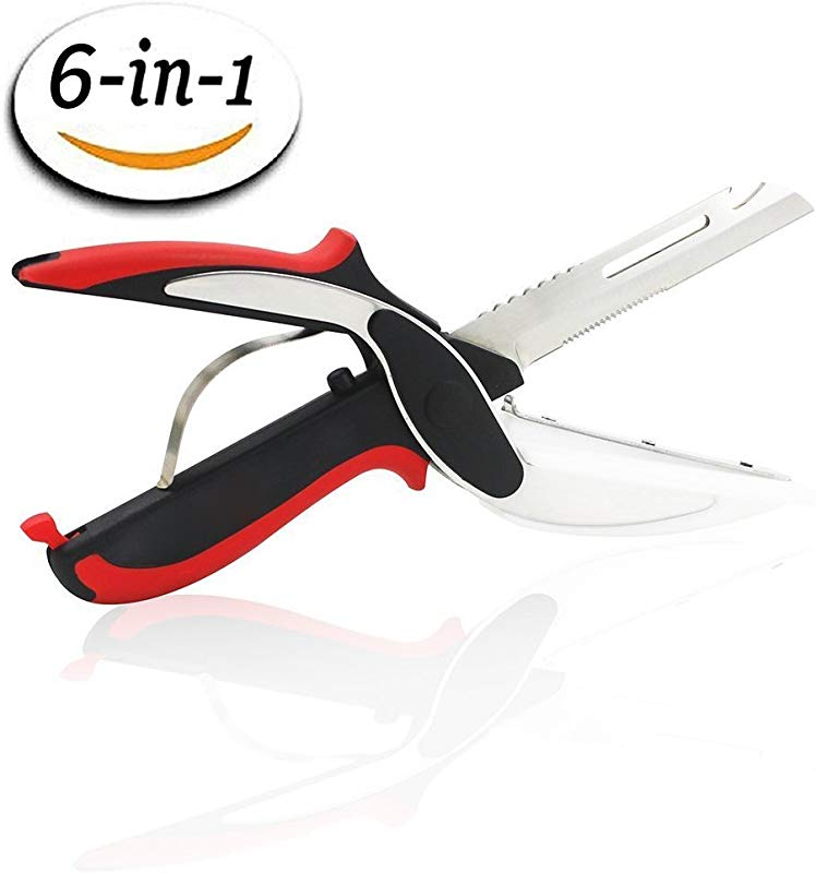 Kitchen Shear AK1980 Premium Multipurpose Stainless Steel Quality Heavy Duty Scissors With Cutting Board Detachable Chef Knife Bottle Opener Fish Scaler Peeler For Vegetables Fruits Fish Chicken Mea