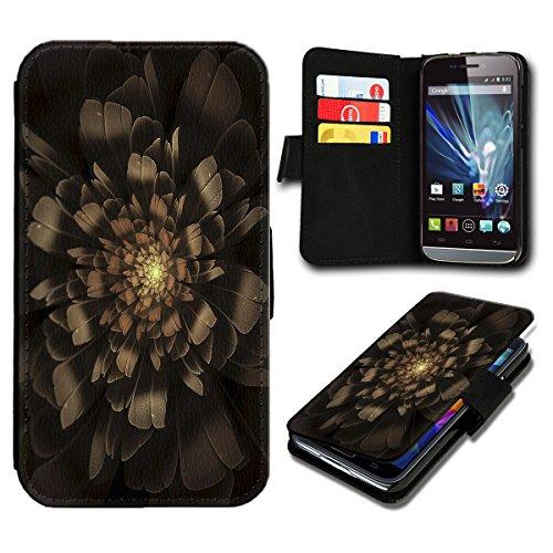 sw-mobile-shop Book Style Wiko Fizz Premium PU-Leder Tasche Flip Brieftasche Handy Hülle mit Kartenfächer für Wiko Fizz - Design Flip SV92