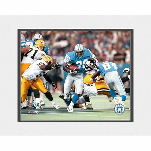 Photo File Detroit Lions Barry Sanders 'Game Action' 8x10 Matted Photo
