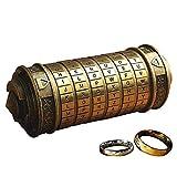 Retro Da Vinci 3D Cryptex Code Lock Cajas de Regalo Exquisitas Para el Aniversario de San Valentn Con El Seor de Los Anillos