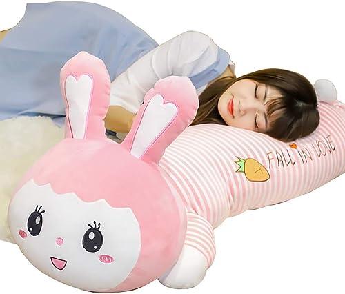 Unbekannt Stoffspielzeug Plüschtiere Tierpuppen Bequeme Kissen Schlafkissen Kinderpuppen Die Besteen Geburtstagsgeschenke für mädchen (Farbe   Rosa, Größe   120cm)