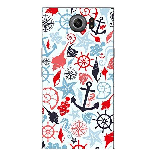 Disagu SF-sdi-4343_1038 Design Folie für BlackBerry Priv Rückseite - Motiv Meeresmuster blau-rot