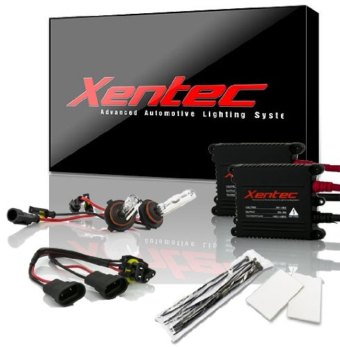 Xentec 9005 6000K HID Xenon Bulb bundle with 55W EP alloy Slim Ballast (Ultra White, also fit 9011,9055,9145,HB3,H12)