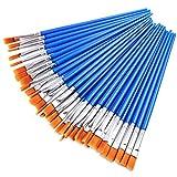 AROIC Paint Brushes Set,36 pcs Nylon Hair Brushes for Acrylic Oil Watercolor Artist Professional Painting Kits