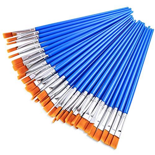 AROIC Paint Brushes Set,38 pcs Nylon Hair Brushes for Acrylic Oil Watercolor Artist Professional Painting Kits