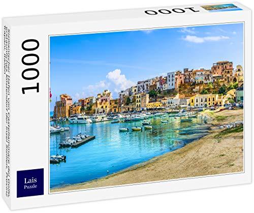 Lais Puzzle Puerto Siciliano de Castellammare del Golfo, Asombroso Pueblo costero de la Isla de Sicilia, Provincia de Trapani, Italia 1000 Piezas
