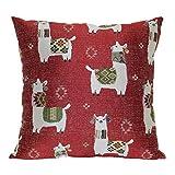 Brentwood Originals Llama Drama Pillow, 18' x 18', Red