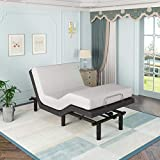 Adjustable Bed Base with Massage, Steel Twin Electric Bed Frame with 2 USB Charge Ports & Wireless Remote, Zero Gravity, Head and Foot Incline, Adjustable Leg heights, No Springs Box Needed(Twin Size)