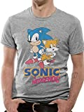 Sonic The Hedgehog Sonic and Tail T-Shirt Gray Gr.2XL