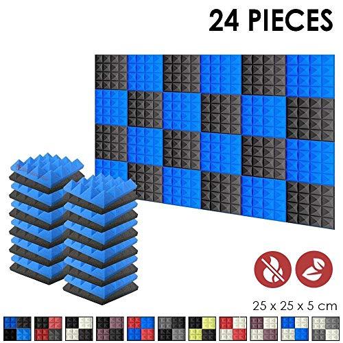 Super Dash 24 Unidades de 25 X 25 X 5cm Insonorizacion Pirámide...