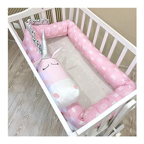 Crib Bumper Baby Protector Newborn Pillow 3D Cartoon Animal Head Guard Bumper Nursery Bedding Best Gift for New Mom 2M/3M (Unicorn 2M)