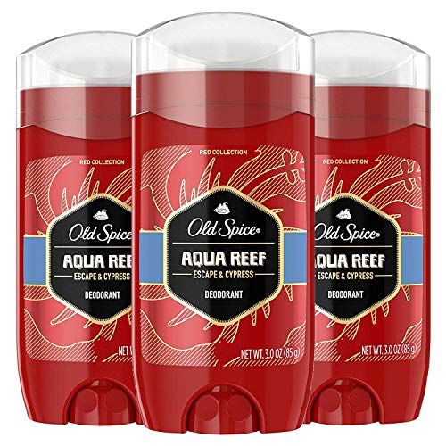 Old Spice Aluminum Free Deodorant for Men Red Zone Collection, Aqua Reef, Lime & Cypress Scent, 3 Oz (Pack of 3)