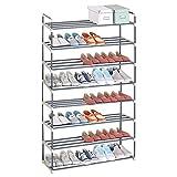 WOLTU SR0019-a Schuhregal Schuhständer Schuhablage, 8 Schicht für 40 Paare Schuhe, XXXL Ständer Regale, 92x30x154cm, beige
