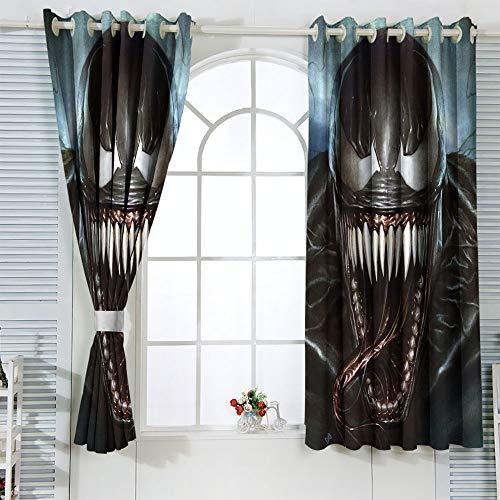 STTYE The Avanger Home Decor - Cortinas para ventana (42 x 45 cm), diseño de superhéroe