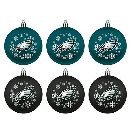 Philadelphia Eagles Boelter Brands NFL Weihnachtskugeln 6er-Set
