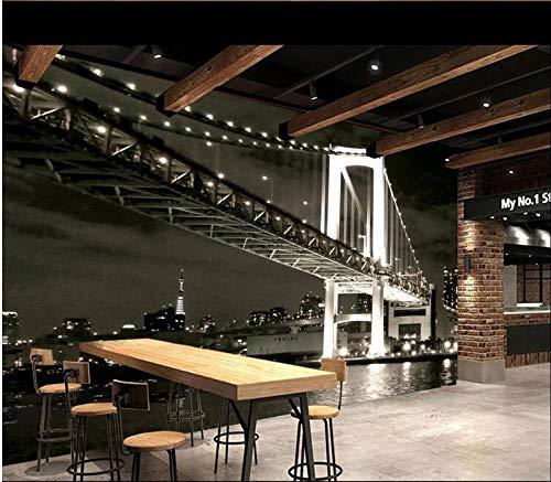 Foto Wandtapete 3D Klassische 3D-Hintergrundwand Der Amerikanischen Golden Gate Bridge Schwarz-Weiß Tv Schlafzimmer Wohnzimmer Hintergrund-300Cmx210Cm
