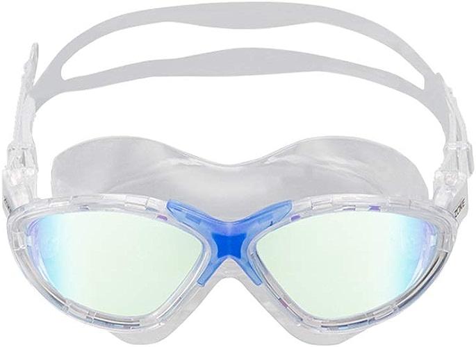 RWHALO Lunettes de Natation de Sport imperméables et Anti-buée grands et Confortables avec Grand Champ de Vision HD (Couleur   Transparent bleu)