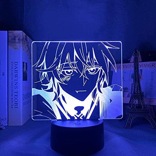 ZHAHAPPY Lámpara de Noche 3D - LED Luz de Noche Serafia del Extremo para la decoración de la decoración del Dormitorio Lámpara 3D de Anime de Anime Mikaela Seraph DE Final