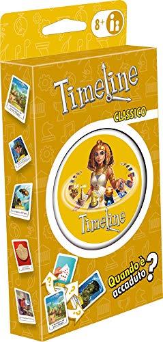 Asmodee - Timeline Classico, Eco Blister, juego de cartas, educativo, formato de bolsillo, edición en italiano, 8305
