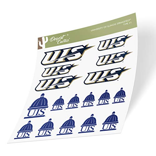 University of Illinois Springfield UIS Prairie Stars Sticker Vinyl Decal Laptop Water Bottle Car Scrapbook (Type 1 Sheet)
